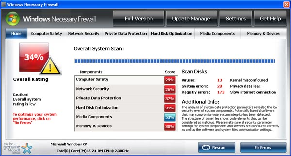 Windows Necessary Firewall